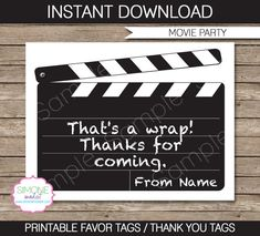 Printable movie ticket birthday invitation movie event hollywood movie party invitations decorations movie night full printable package instant download with editable text you personalize at home stopboris Gallery