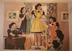 1940s calendar - the Dionne quintuplets?  | Flickr - Photo Sharing!