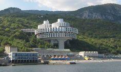 Druzhba Holiday Center, a hotel in Yalta, Ukraine, designed by Igor Vasilevsky, built 1984