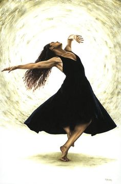 Free Spirit by Richard Young  medium: oil on canvas using a knife