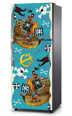 Naklejka na lodówkę - Piraci