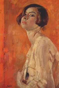 """Augustus John """"The Artist's Daughter Poppet"""" thanks Brian for the pin. Great draftsman - beautiful drawings - need to find some to pin here."""