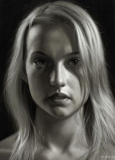 """German artist Dirk Dzimirsky creates incredibly realistic artworks depicting human beings in a """"somewhat dark artistic mood, relentlessly revealing the vulnerability and tragedy of their… Hyper Realistic Paintings, Realistic Drawings, Art Drawings, Pencil Drawings, Pencil Art, Hyperrealism Paintings, Hyperrealistic Drawing, Photorealism, Pencil Portrait Drawing"""