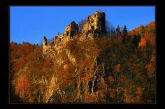 Starhrad Castle ruins by Milan Vojtík. Castle Ruins, Manor Houses, Homeland, Castles, Monument Valley, Milan, History, Country, Travel