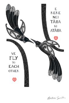 E Rere nei Taua ki Ataua - We Fly to Each Other Dragon Sleeve Tattoos, Tribal Sleeve Tattoos, Skull Tattoos, Hawaiian Tribal Tattoos, Samoan Tribal Tattoos, Maori Designs, Tribal Tattoo Designs, Beatles Tattoos, Fern Tattoo