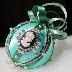 Green Victorian Style Christmas Ornament by OrnamentDesigns, $20.00