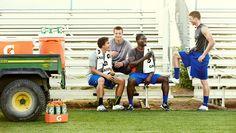 Football practice | photo by Matt Hawthorne