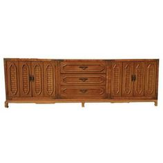 Impressive Mid Century Thomasville Buffet - 3 Pc. - Chairish   Painted... or the likes painted with cooler knobs