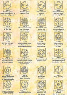 Sigils & Symbols: King Solomon #Seals [21 - 44].: