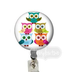 Retractable ID Badge Holder Badge Reel Name tag Cute by abbyloutwo, $7.99