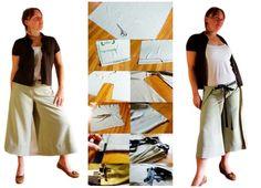 Como hacer Pantalon-Falda-Delantal paso a paso