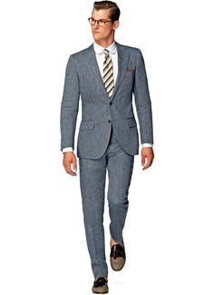 Pak Blauw Uni Lazio P4230 | Suitsupply Online Store € 299, puur linnen