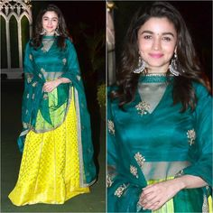 @aliaabhatt Outfit - @raw_mango Styled by - @stylebyami #bollywood #style #fashion #beauty Silk Kurti Designs, Kurti Designs Party Wear, Lehenga Designs, Blouse Designs, Indian Attire, Indian Ethnic Wear, Indian Outfits, Party Wear Indian Dresses, Pakistani Dresses