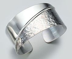 997500fa410b sterling silver jewelery home material silver silver cuff bracelet half  hammered half525 x 428 33 kb