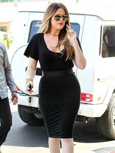 Marital woes aside, Khloé Kardashian Odom puts her most fashionable foot forward around L.A. in a figure-hugging dress on Wednesday.