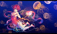 Jellyfish+Art | Jellyfish March by Kaze-Hime