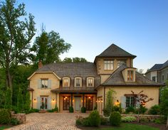 New Country French Cottage - mediterranean - exterior - dc metro - Barnes Vanze Architects, Inc
