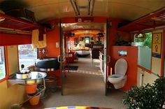 Recycled train car turned into a house. I've done a lot of research on this and the big downside is the cost of moving the car to a piece of land (can easily cost $20,000). Otherwise, it's one of the best ideas I've ever seen for a house!