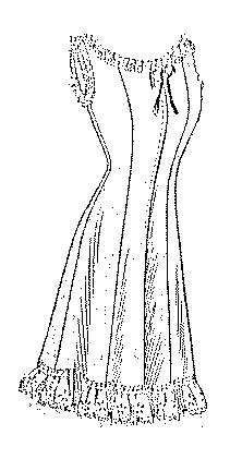 """Past Patterns: #4574: Ladies' Three-Piece Princess Combination Suit: Circa 1913; originally published by The Ladies' Home Journal Pattern Company and described as """"Ladies' Three-Piece Princess Combination Suit. Forming corset-cover, drawers and petticoat, closed in front; the neck in round or square outline."""""""