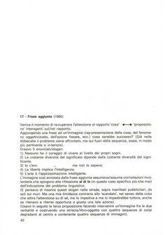 Model 17: Frase aggiunta / Added sentence (1965) - Description of the artist