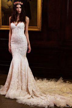 berta bridal fall 2016 straplress sweetheart mermaid wedding dress (16 103) mv -- Berta Fall/Winter 2016 Wedding Dresses