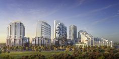 The developers behind one of Toronto's largest condo developments to be approved in recent memory expect to break ground for the project before the end of next year. High Rise Apartments, Game Changer, San Francisco Skyline, Toronto, Condo, Games, Travel, Viajes, Gaming