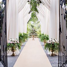 When it comes to making a dramatic entrance, a grand wrought iron gate is an outdoor #wedding must-have. #wedding_ceremony #wedluxe