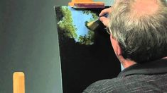 Wilson Bickford video tutorial oil painting a waterfall.  Part 1.