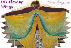 How to make fabric wings from thrifted scarves. Cute! I love this magazine.