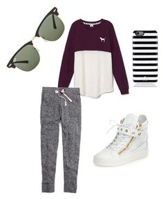 """Cute and Comfy"" by rylovesoccer on Polyvore featuring Victoria's Secret, Madewell, Giuseppe Zanotti, Ray-Ban and Kate Spade"
