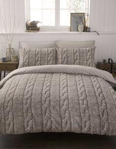 Cable Knit Duvet Cover.cozy