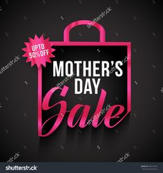Banner,Flyer Or Poster Of Mother'S Day,Sale Shopping Bag Background. Stock…
