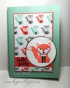 Linda Dalke: Crazy Critters Class using the Fox Friends bundle