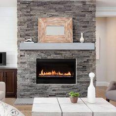 Pearl Mantels Hadley Fireplace Shelf Mantel & Reviews | Wayfair Fireplace Shelves, Home Fireplace, Fireplace Remodel, Fireplace Inserts, Fireplace Ideas, Mantel Shelf, Fireplace Makeovers, Craftsman Fireplace, Farmhouse Fireplace