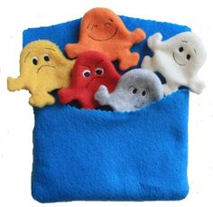 Pocket of Feelings Finger Puppet Set w/Storage by heartfeltplay