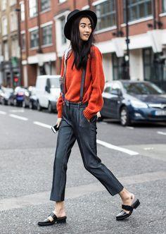 London Fashion Week, Ji Hye Park, suspenders/Garance Doré/Sandra Semburg
