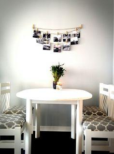 Grey walls with a DIY photo spread