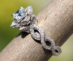 EVER BLOOMING LOVE - Diamond Engagement Flower Ring - Infinity - Gorgeous Unique Rose -Lotus - fL06 on Etsy, $8,500.00