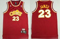 03fbd04cd73 Men CAVS 23 Lebron James Jersey Red Cleveland Cavaliers Swingman