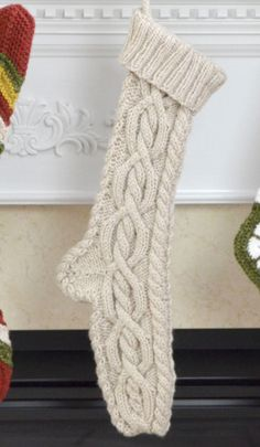 Christmas Stockings to Knit and Crochet from Premier Yarns – 15 free patterns – Grandmother's Pattern Book – Christmas in July! Knitted Christmas Stocking Patterns, Knit Christmas Ornaments, Knitted Christmas Stockings, Christmas Patterns, Christmas Crafts, Xmas, Knitting Patterns Free, Free Pattern, Knitted Flowers