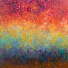"""GRACE KELLER """"Brahms Sonata #3 Adagio""""  Oil on Canvas  31.5"""" x 31.5"""""""