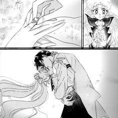 Sailor Moon/Usagi and Tuxedo Mask/Mamoru engagement ring