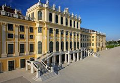 Garden facade of the Schönbrunn Palace, Wien (Austria). Visit Austria, Vienna Austria, Places Ive Been, Places To Go, Christmas Spectacular, Palace Interior, Royal Residence, Garden Pictures, Heritage Site