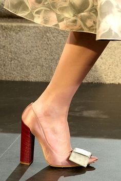 Louis Vuitton bow shoes.