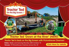 Tractor Ted NEW DVD on the Big Screen with PIcturehouse Toddler Time – Heyevent. Southampton, Teaching Kids, Tractors, Real Life, Ted, Cinema, Edinburgh, October, River