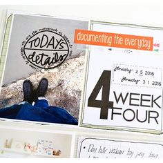 The Ink Show - Title card for week 4. Project life.  #titlecard #aliedwards #washitape #pocketscrapbooking #scrapbooking