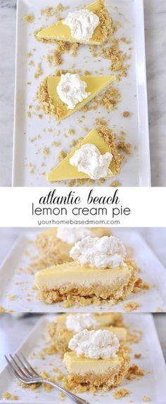 This Atlantic Beach Lemon Cream Pie is the perfect combination of sweet and salty. Made with a saltine cracker crust.#altanticbeachlemonpie#lemonpie#lemoncreampie#lemonpierecipes#atlanticbeachpie#pies#easypie#lemonpierecipes