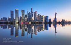 Reflection of Shanghai - Pinned by Mak Khalaf City and Architecture 倒影后期城市外滩陆家嘴风光 by 519daa4384a148b9fbd5e8d9b74a51321