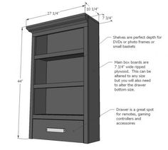 I want to make this!  DIY Furniture Plan from Ana-White.com  Build a media wall! Free plans for side hutch!
