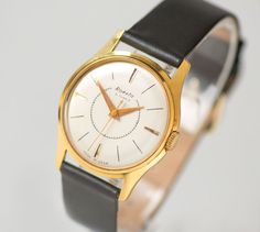 Dress watch gold plated  gold plated AU 20 Soviet watch by 4Rooms